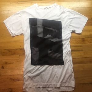 Helmut Lang Pact Graphic SS Long T-shirt Size 2